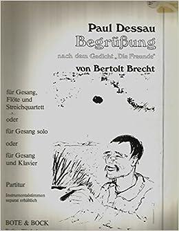 Paul Dessau Begrusung Nach Dem Gedicht Die Freund Von