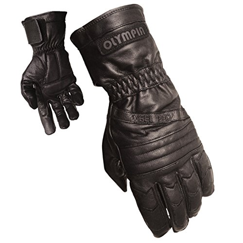 Olympia 410 Sport Gel Classic Motorcycle Gloves (Black, X-Large) (Gel Olympia)