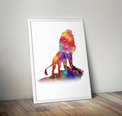 Cadre non inclus Citation Affiche du Roi Lion Aquarelle Inspir/ée Affiche Simba Tirages TV // Film alternatifs dans diff/érentes tailles