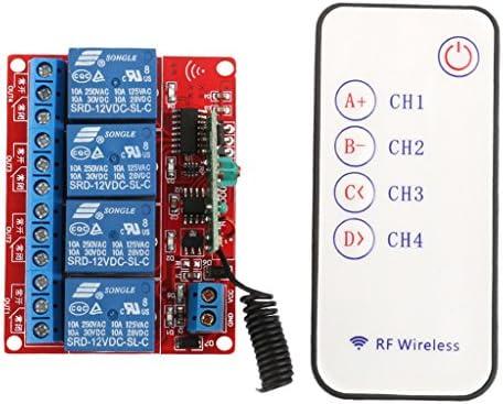 Gazechimp 12V 4 Channel 4CH RF Wireless Remote Controll Schalter Relay Module 433MHz