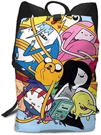 Adventure Time アドベンチャー タイム リュック男女兼用 多機能 旅行リュックサック登山リュック大容量 リュック3dプリント ランドセル アダルトクナップザック旅行などに最適 中学生 リュック