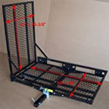 STEEL 2'' Hitch Wheel Chair Scooter Bike RAMP Carrier - 500 lbs Cap.
