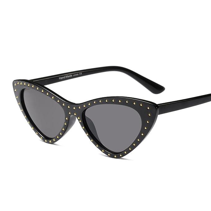 Feicuan Retro Gafas de sol Mujer UV400 Pequeño triángulo ...
