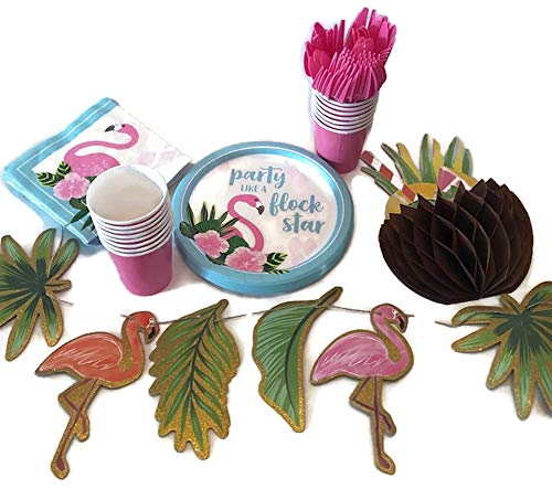 Flamingo Party Pack! 15 Person Set with Decorations! Party Like A Flock Star!