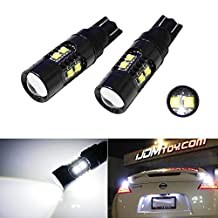 iJDMTOY Extremely Bright 50W CREE High Power 906 912 921 T10 LED Back Up Reverse Lights, Parking Lights, Xenon White Color