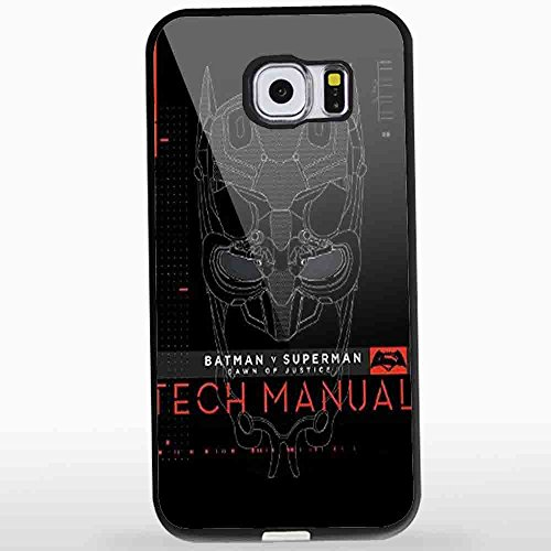 Batman V Superman Dawn Of Justice Tech Manual for Samsung S6 Black case