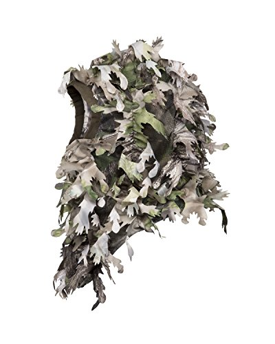 North Mountain Gear Wicked Woods HD Camouflage Hunting Full Cover Ghillie Leafy 3D Face Mask Woodland Breathable Hunting Mask Clothing (Woodland Green) (Turkey Net Head)