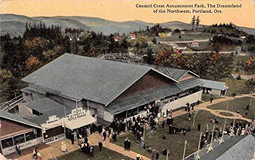 Portland Oregon Council Crest Amusement Park Vintage Postcard JA4742010