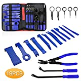 Helen Butler Auto Trim Removal Tool Kit - 19 Pcs Car Door Panel Removal Tool for Audio Dash Center Console Installation and Remover - Panel Clip Pliers, Strong Nylon Pry Tools (19PCS - Blue)