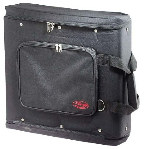 Stagg RB-2U Two Piece Rack Carrying Bag with Adjustable Carrying Strap - Black by Stagg