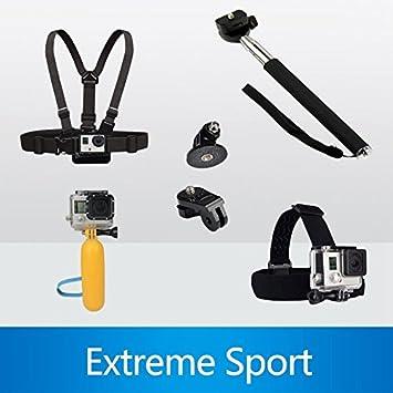 Para GoPro Accesorios Monopod trípode flotador Bobber pecho Cinturón Set Para Gopro Héroe 4 Sesión 3 SJ4000 Xiaomi yi Accesorios de la cámara ziefly borde: ...