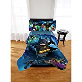 lego bedding full - Lego Batman 5pc Full Comforter and Sheet Set Bedding Collection