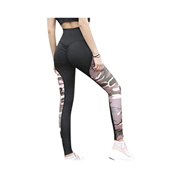 LQRR Pantalones de Yoga de Mujer Cintura Alta Leggings de ...
