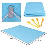 Fenun Sand Proof Free Blanket Beach Mat, Compact, Soft and Lightweight with Big Size for Summer Beach, Picnic, Hiking, Outdoor Supplies