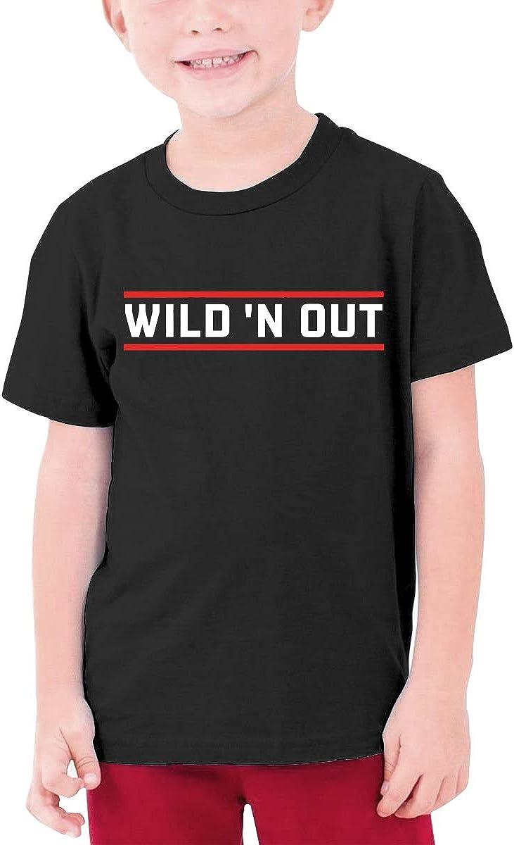 Kangtians Boys Wildn Out T-Shirt Childrens Short Sleeve Shirt