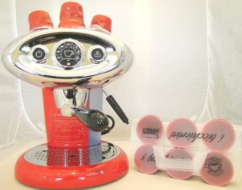 Illy Espresso X7.1 X 7.1 ipere mediaespresso Cafetera expreso, Cápsula eléctrica m.i.e. Francis Francis Rojo Incluye 6 ORIG. Bialetti Taza bicchi erini en rojo: Amazon.es: Hogar