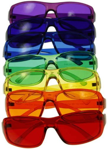 [3 Sizes Available] Kids Style Color Therapy Glasses - Set of 9 Colors, Sunglasses by BioWaves