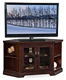 "Leick Riley Holliday 46"" Corner TV Stand in Chocolate Cherry"