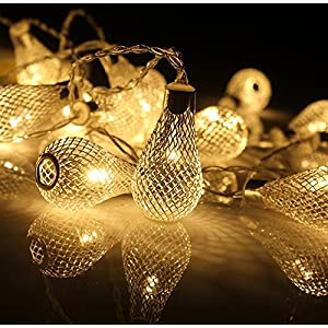 Techno E-Tail Waterdrop 20 Led Decorative Lights For Home,Warm White
