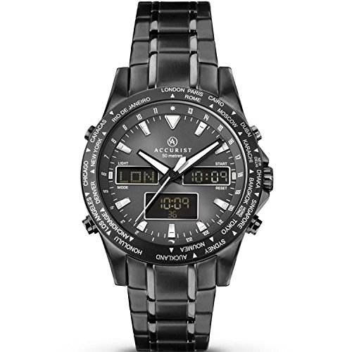 Accurist Gents World Timer Chronograph Watch 7102