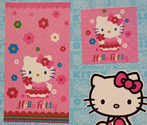 Hello Kitty 2 Piece Bath Set (bath towel and washcloth)