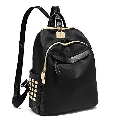 MSZYZ La Moda Femenina Todos-matchbackpack Bolsa de Tela Bolsa Estudiante de Oxford de Ocio,Negro,28 * 26 * 14cm. black