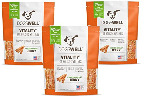 Image of (3 Pack) Dogswell Vitality Chicken Breast Jerky, 24oz Each