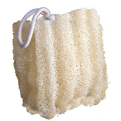 CraftsOfEgypt Set of 3 Egyptian Loofah 100% Natural SPA Beauty Bath Sponge Body Puff Scrubber. Premium Quality Lofa Loofa Luffa Loffa for exfoliating Your Skin