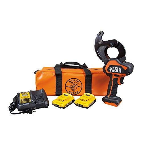 Klein Tools BAT20-G10 Cable Cutter, Closed-Jaw Power Tool with Cu/Al Cutting Jaw and 2 Ah DeWALT 20V ()