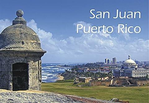 San Juan, Puerto Rico, Fort Castillo San Cristóbal, Skyline, Souvenir Magnet 2 x 3 Photo Fridge - Puerto Rico Kitchen