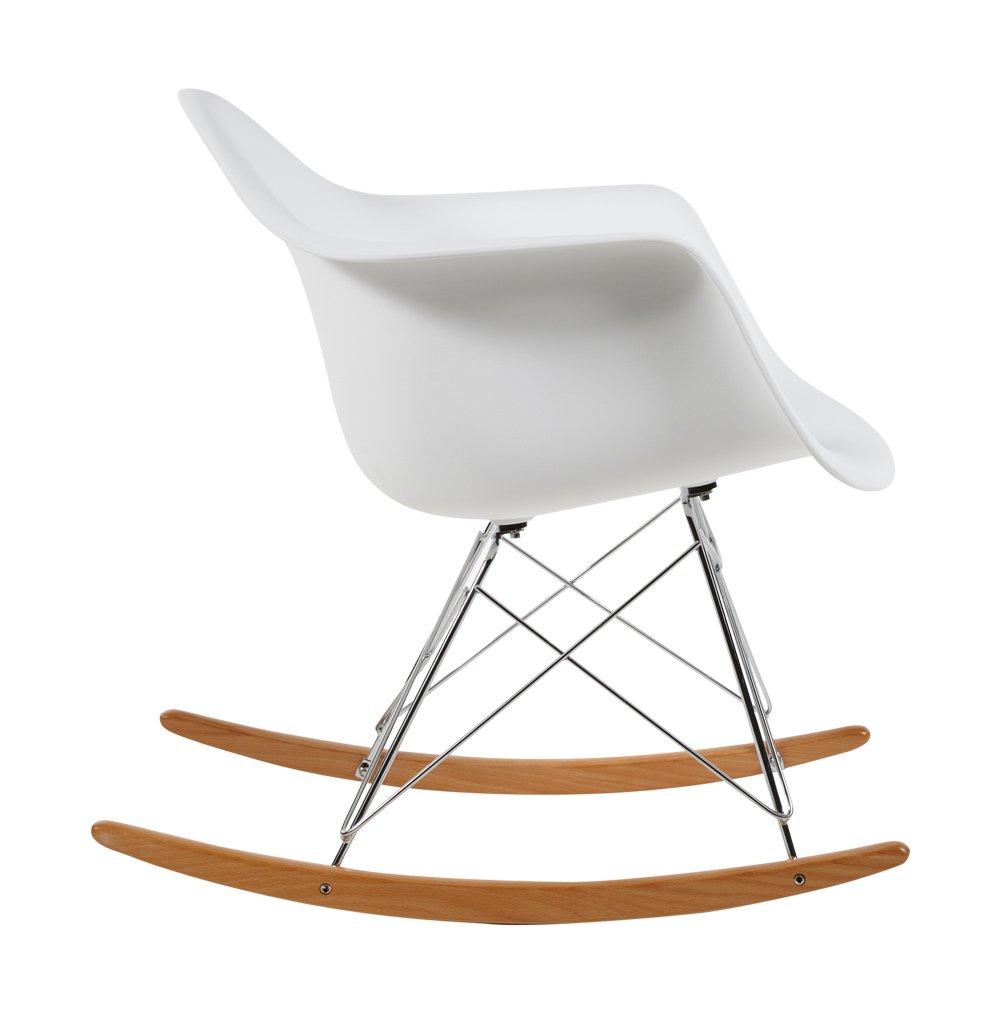 Charles Eames RAR Plastic Rocking Chair   White: Amazon.co.uk: Kitchen U0026  Home