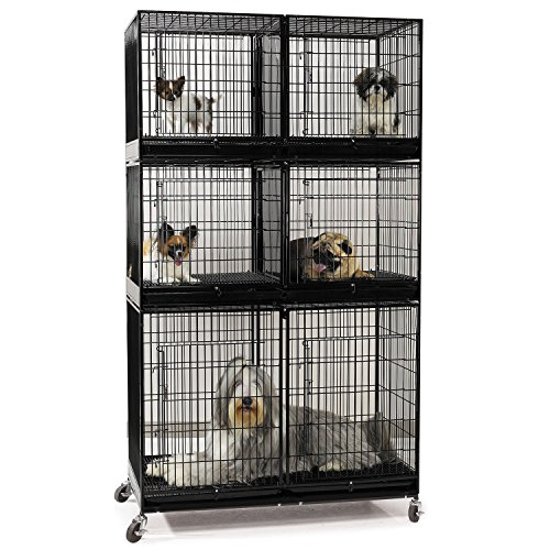 Proselect Modular X Tall 3 Tier Cage Bank Kit  Black