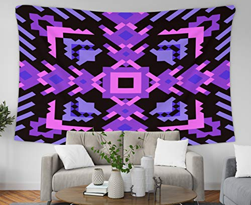 Asdecmoly Christmas Tapestry Printing Wall Hanging Tapestries Best Tapestries 60 L x 50 W Inches Tribal Pattern Fancy Abstract Geometric Art Print Ethnic Hipster Art Printing Inhouse