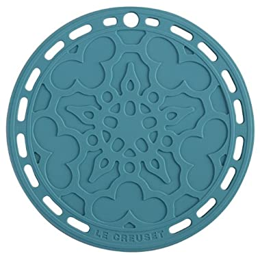 Le Creuset Silicone 8  Round French Trivet, Caribbean