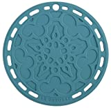 "Le Creuset Silicone 8"" Round French Trivet, Caribbean"