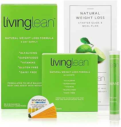 Living Lean Detox Cleanse Weight Loss Kit for 5 Days - Vegan Natural Organic - Alkaline Your Body for Healthy & Sustainable Weight Loss & Digestion Support-Powerful Colon, Kidney, Liver Cleanser