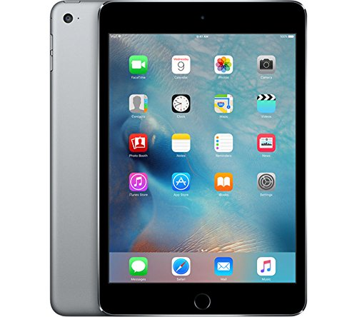Apple iPad Mini 4 with Retina Display 128GB Wi-Fi - MK9N2LL/A Space Gray (Renewed) by Apple (Image #1)