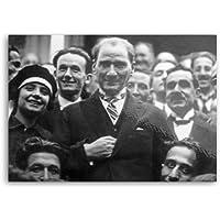 Atatürk Gençler ile - Metal Poster