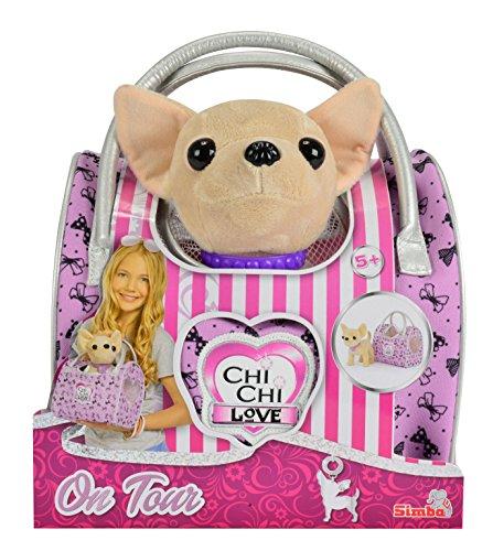 Simba 105892276 - Chi Chi Love Plüschhund 20cm mit Reisetasche