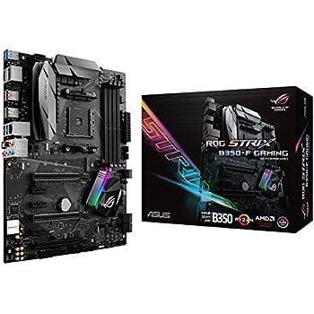 ASUS ROG STRIX B350-F GAMING AMD Ryzen AM4 DDR4 HDMI DisplayPort M 2 USB  3 1 ATX B350 Motherboard