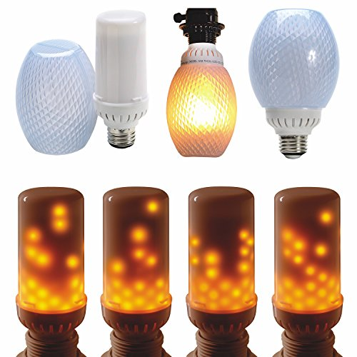 Lites Top Mount (FlameWave Flickering Flame LED Light Bulb - 2 Top Mount for Standard Lamp Base)