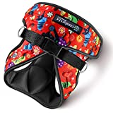 Metric USA ● No Pull Small Dog Harness Vest ● Easy to Put on & Take Off ● Soft Padded Interior & Exterior Puppy Harness ● Ensures Your Dog is Snug & Comfortable (Medium, Cartoon Doggie Design)