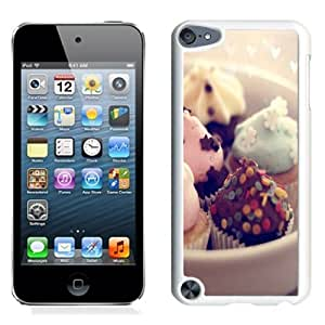 Fashionable Custom Designed iPod Touch 5 Phone Case With Mint Chocolate Cupcake Desert_White Phone Case