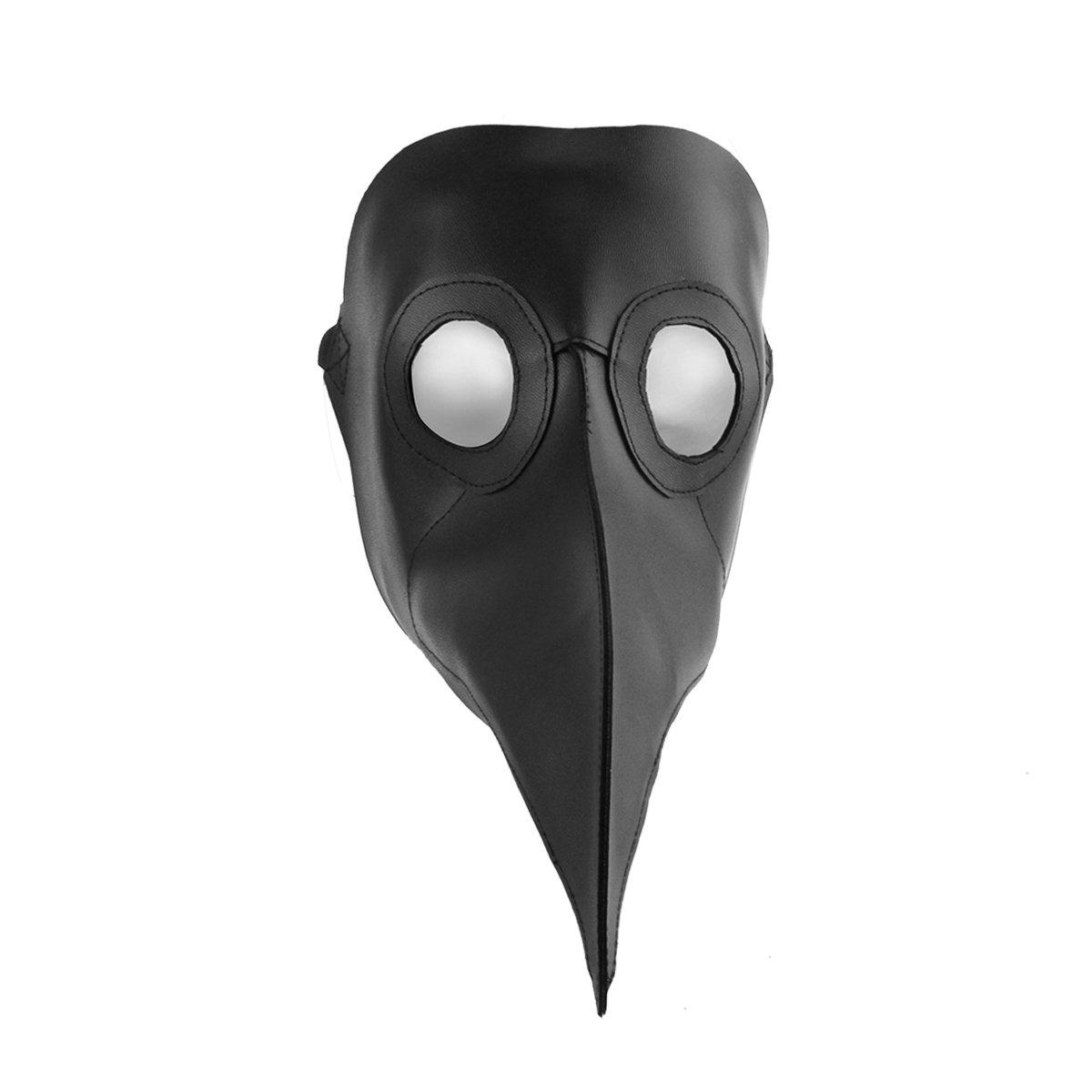 Marrone Cusfull Maschera Becco Maschera Halloween Steampunk Costume dottore maschera di cuoio elaborazione maschera intera Masquerade Mask