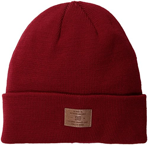 DC Men's Label Snow Beanie, Chili Pepper, 1SZ
