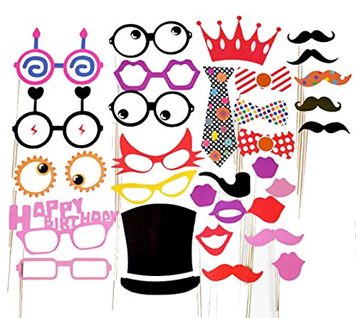 [31pcs Photo Booth Props DIY Kit, Photobooth Dress-up for Baby Newborn Birthday Anniversary Party Shower] (Fantastic 4 Costume Uk)