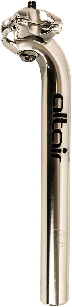 Altair Unisexs SP0226 Seatpost AL 27.2 250mm Micro SIL Road 27.2X250 mm Silver