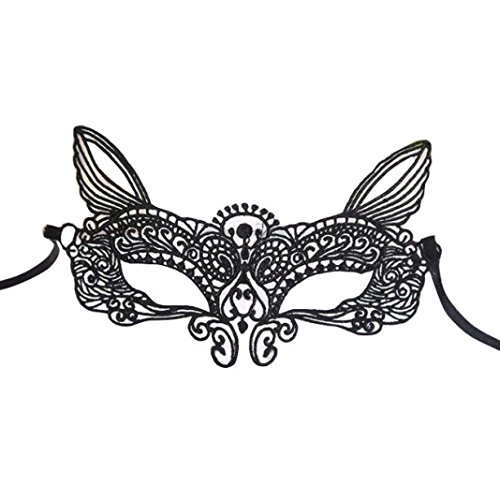 Halloween Costumes 2016 Catwoman (Lucoo® Fashion Halloween Masquerade Sexy Lady Black White Lace Mask hollow out Catwoman (C))