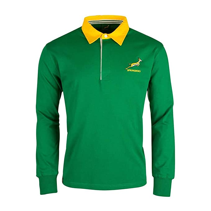 Brandco Springboks South Africa LS Rugby Jersey: Amazon.es ...