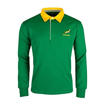 Springboks South Africa Ls Rugby Jersey Amazon Co Uk Sports Outdoors